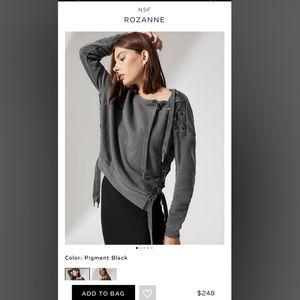 NWOT- NSF Roxanne Lace Up Sweatshirt